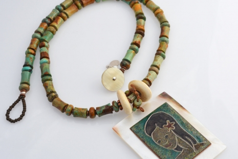 Hawaiian Statement Necklace, copyright Honey from the Bee