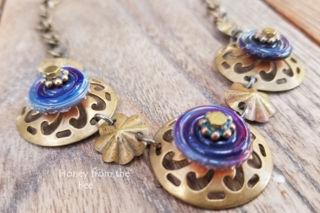 Brass and Lampwork necklace