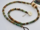 Unusual turquoise cut beads, copyright Honey from the Bee